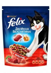 Felix двойная вкуснятина сухой корм для кошек с мясом 750 гр.