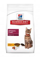 Hill's Adult Optimal Care сухой корм для взрослых кошек с курицей 15 кг.