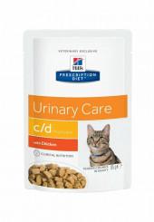 Hill's c/d Urinary Care консервы для кошек с МКБ с курицей пауч 85 гр.