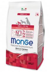 Monge Mini Puppy and Junior сухой корм для щенков маленьких пород с курицей 800 гр.