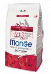 Monge Mini Adult сухой корм для взрослых собак маленьких пород с курицей 800 гр.
