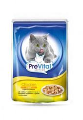 PreVital классик консервы для кошек с курицей в желе 100 гр.