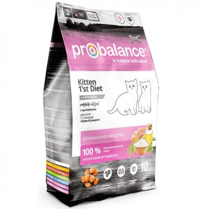 Probalance Kitten 1st Diet сухой корм для котят с цыпленком 10 кг.