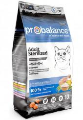 Probalance Adult Sterilized сухой корм для стерилизованных кошек 10 кг.